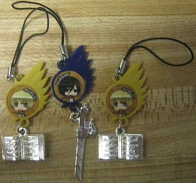 Lot of 3 Attack on Titan Charm!!