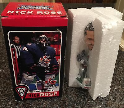 Toronto Rock Lacrosse Nick Rose #66 Collectible Bobblehead With Box Rare