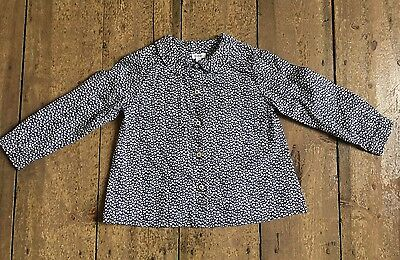 Girls Navy And White Patterned Blouse Age 3 Years Elias & Grace