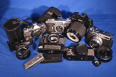 LOT of Various Yashica 35mm and Film Cameras Etc. #L168EW