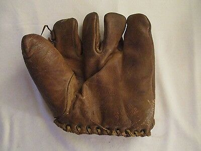 Vintage Hutch Cincinatti Lee Grissom Model Genuine Cowhide Baseball Glove
