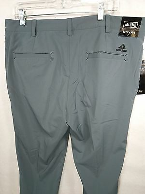 Adidas Men's Fall Weight Golf Pants Performance Stretch Size 36 X 30 Gray New