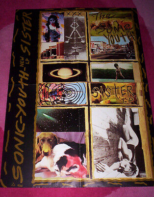 SONIC YOUTH ~ SISTER POSTER ~ Orig 1986 promo. Folded, unused.