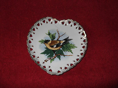 """Beautiful Finch Hand Painted Collector's Plate By Napco China - 6"""" --Excellent!"""