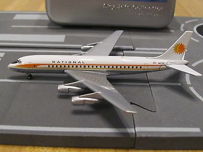 Sky Jets 1:400 scale diecast model National DC-8 Commercial Airliner