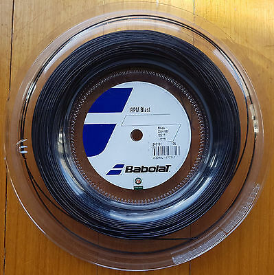 Brand New Genuine Babolat RPM Blast Black Tennis String Gauge 17G 1.25mm 200m