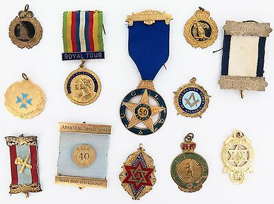 1950s - 1990s SUPERB LOT MASONIC / LODGE RIBBONS, MEDALS, PINS