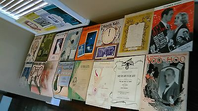 lot of 20 vintage sheet music from the 20's on up  mostly for piano see photos