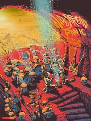 Widespread Panic James Flames Red Rocks RARE GOLD FOIL 2017 Poster Print Variant