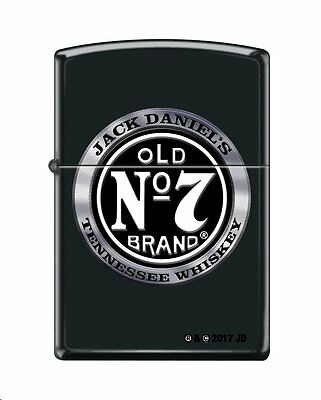 Zippo 4418, Jack Daniels Tennessee Whiskey Old No. 7, Black Matte Finish Lighter