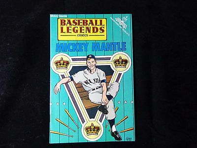 Mickey Mantle 1992 Baseball Legends Comics #4 New York Yankees Bagged & Boarded