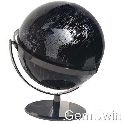 Robust World Globe Double Axle Black Educational Wedding Gift Home Decor 42x30cm