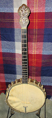 "Van Eps Recording Banjo Patented SN 501 Archtop 11-3/8"" Head Year Unknown"