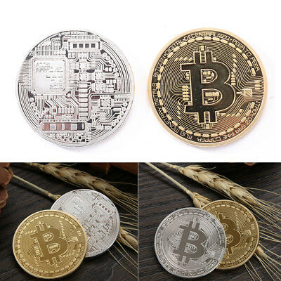 1 x Gold Plated Physical Bitcoin Coin Collectible Gift BTC Coin Art Collection
