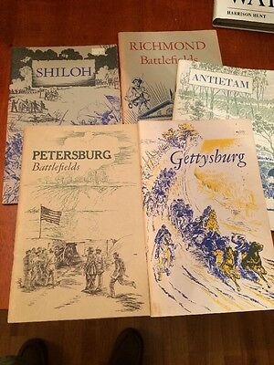 Lot of 5 Civil War Battlefield Booklets National Park Service Shiloh Gettysburg