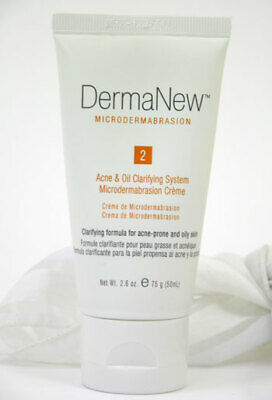 DermaNew Acne & Oil Clarifying System Microdermabrasion Creme 2.6 oz Step 2 NEW