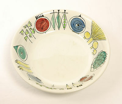 "Sweden 1950's Retro Scandinavian Rorstrand ""Picknick"" Pattern Cereal/Salad Bowl"