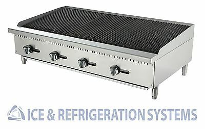 Stainless  48'' Commercial Gas / Propane Countertop Char Rock Broiler Cb-48