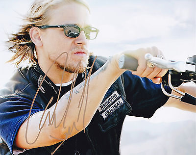 "SONS OF ANARCHY  CHARLIE HUNNAM  Signed Autographed 8x10"" Photo"