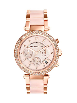 Michael Kors Women's MK6110 Mini Parker Blush Rose Gold Tone Watch