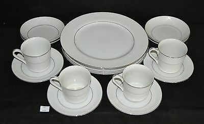 ThriftCHI ~ Southwicke China w Silver Trim 4 Person Place Setting 16 PCs Total
