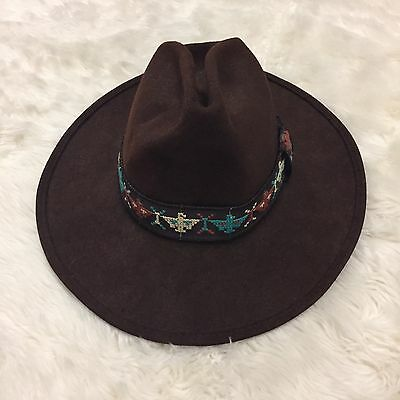 Vintage Men's EMPIRE STATE HATS - WOOL FEDORA STYLE - Cow Boy Hat - Brown