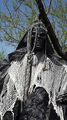 halloween black face hanging skeleton noise activated