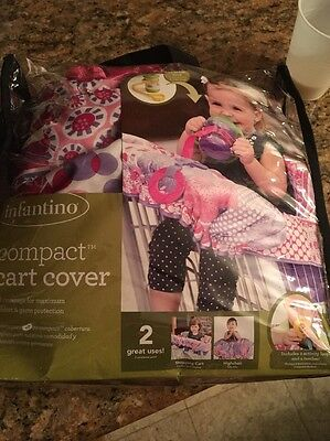 NEW Infantino Compact 2 in 1 Shopping Cart Seat Cover Pink Purple