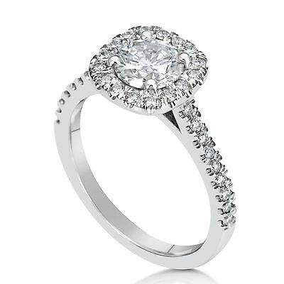 2.26 Ct Round Cut D/si1 Diamond Solitaire Engagement Ring 18K White Gold