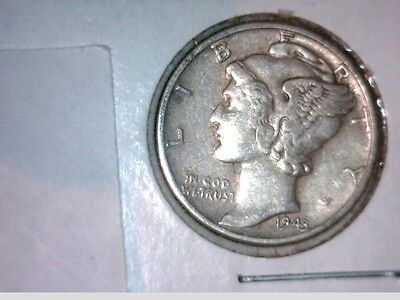 1943, 1943-D, 1943-S       Mercury Dime 3 coin lot