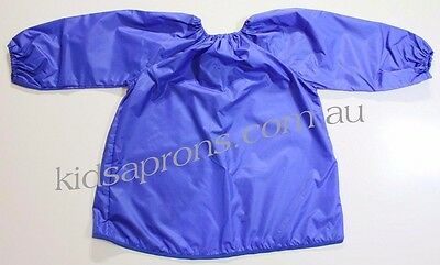 Kids art smock blue size fits 4 to 8 yrs Good quality nylon,painting,waterproof