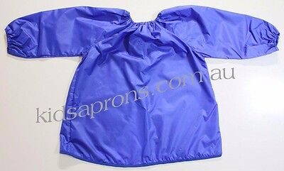 Kids art smock blue size fits 8 to 12 yrs Good quality nylon,painting,waterproof