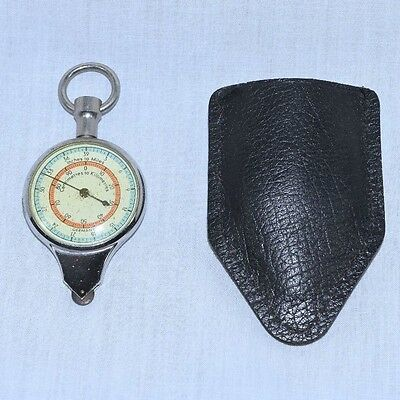 Vintage German Map Measuring Device with Compass & Leather Case