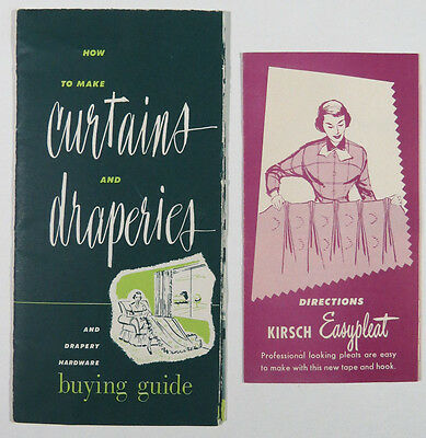 Vintage Kirsch Drapery Handware Advertising Brochures Draperies Curtains How To