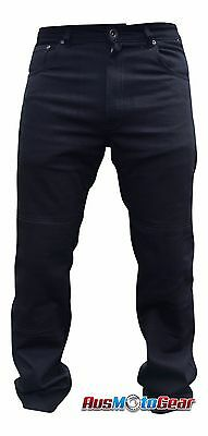 Motorcycle Jeans Denim Protective Lining of DuPont™ KEVLAR®- 4 PC Armour