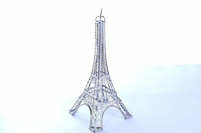 "Eiffel Tower Paris Sculpture 14"" stainless steel wire"