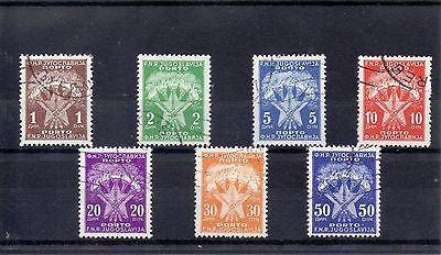 YUGOSLAVIA  1951/52  SG D724 to D730 used