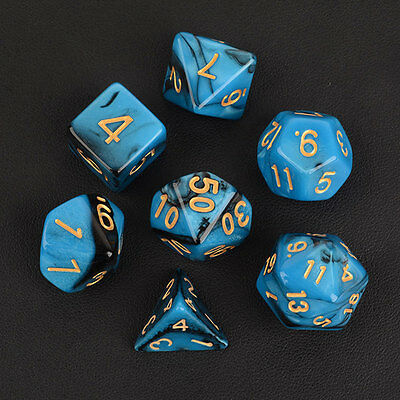 NEW Set of 7 D4-D20 Gaming Dice RPG D&D Die - Six Opaque Colors Hot Sale Gift