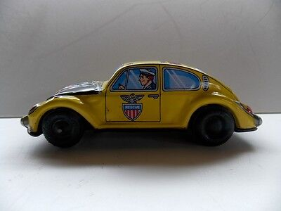 Vintage VolksWagon Tin Friction Emergency Rescue Car Made in Japan VG Condition