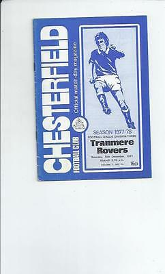 Chesterfield v Tranmere Rovers Football Programme 1977/78
