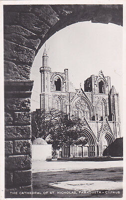 CYPRUS POSTCARD FAMAGUSTA THE CATHEDRAL OF SAINT NICHOLAS 1940s