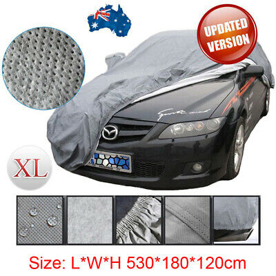 Large SizeXL Outdoor Full Car Cover UV Waterproof Dust Sun Protection Breathable