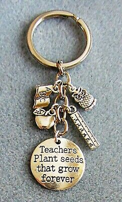 Thank You Teacher Gift Teaching Assistant Nursery School Bookmark Keyring Pin