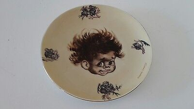 brownie downing  8 inch dish with indigenous child and koala images