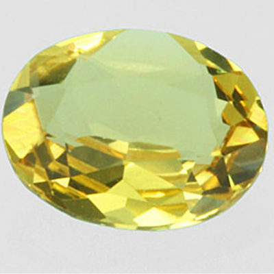 1.40 cts 9x7mm Remarkable 100% Natural Full Color Yellow Beryl Oval Cut