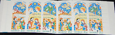 Sweden 1988 Christmas Nativity Booklet SB412, with pane SG11641417a MNH
