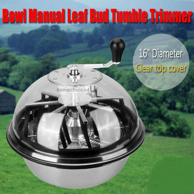 """16"""" Twisted Trimmer Stainless Bowl Hydroponics Leaf Plant Bud Spin w/Wire blade"""