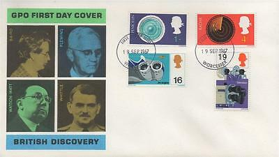 1967 Gpo British Discovery Phosphor Fdc First Day Cover - Worcester