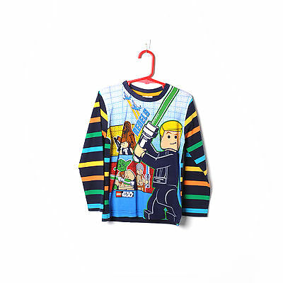 Brand New With Tags Boys Top T-Shirt Lego Star Wars Long Sleeve Size 3-4 Years