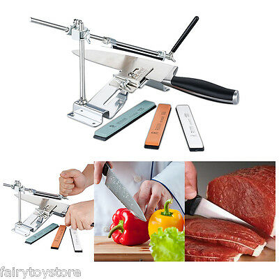 Professional Fix-angle Kitchen Knife Sharpener System Sword 4 Sharpening Stones